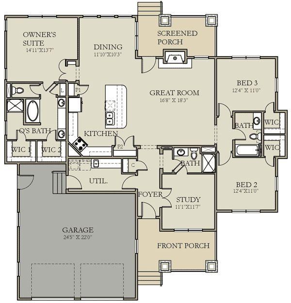 Plan W25402TF Craftsman, Prairie Style, Northwest House Plans