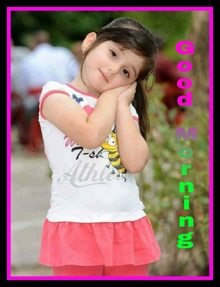 Good morning pic with cute little girl