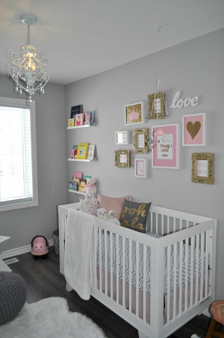 Chambre Bebe Fille En Gris Et Rose 32 Belles Idees Pink Girl Room Baby Girl Room Gray Nursery Girl