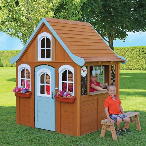 Outdoor Playhouses Toy : Storybrooke cottage playhouse backyard toys