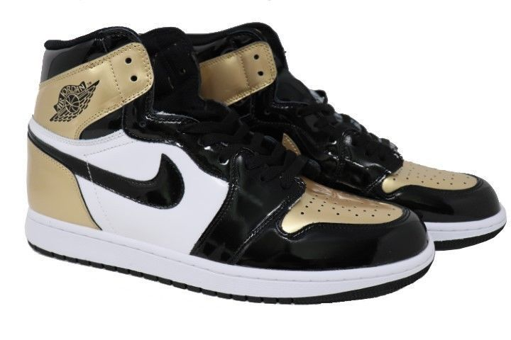 nike air jordan 1 retro 861428 007 mens black gold high og nrg size rh pinterest com