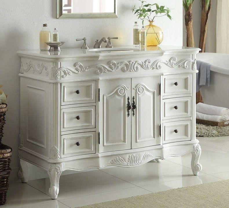 Chans furniture cf-3882w-aw-42 beckham 42 inch antique white