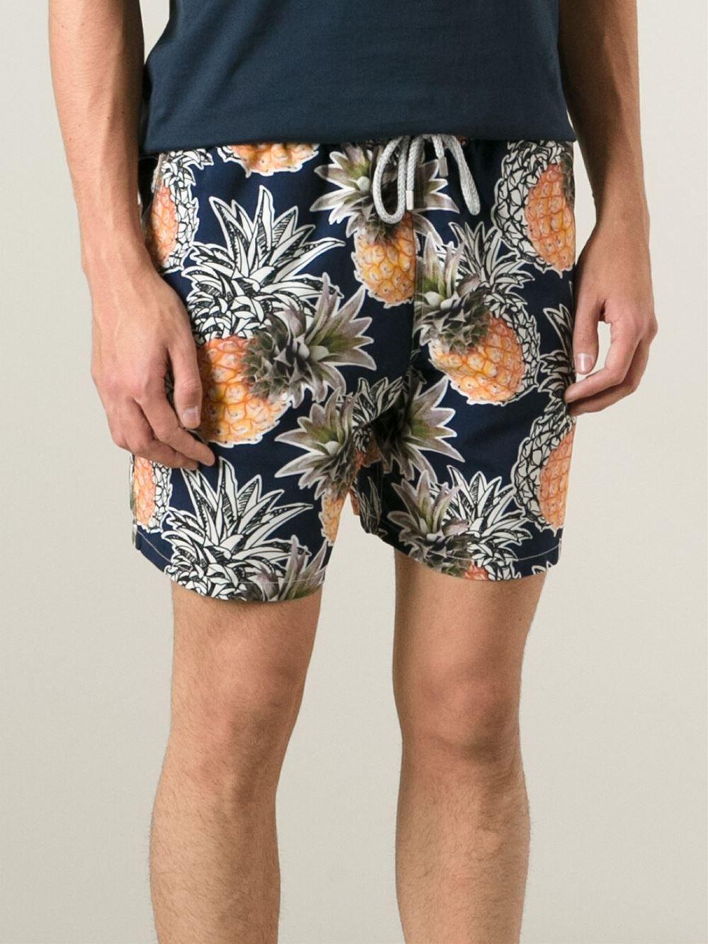 d4bd12228a Vilebrequin Pineapple Print Swim Shorts - Benesch - Farfetch.com ...