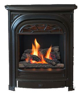 Fireplace Astonishing Living Room Decoration Using Brick Fireplace Insert Including Black Metal Freesta Freestanding Fireplace Brick Fireplace Fireplace Design