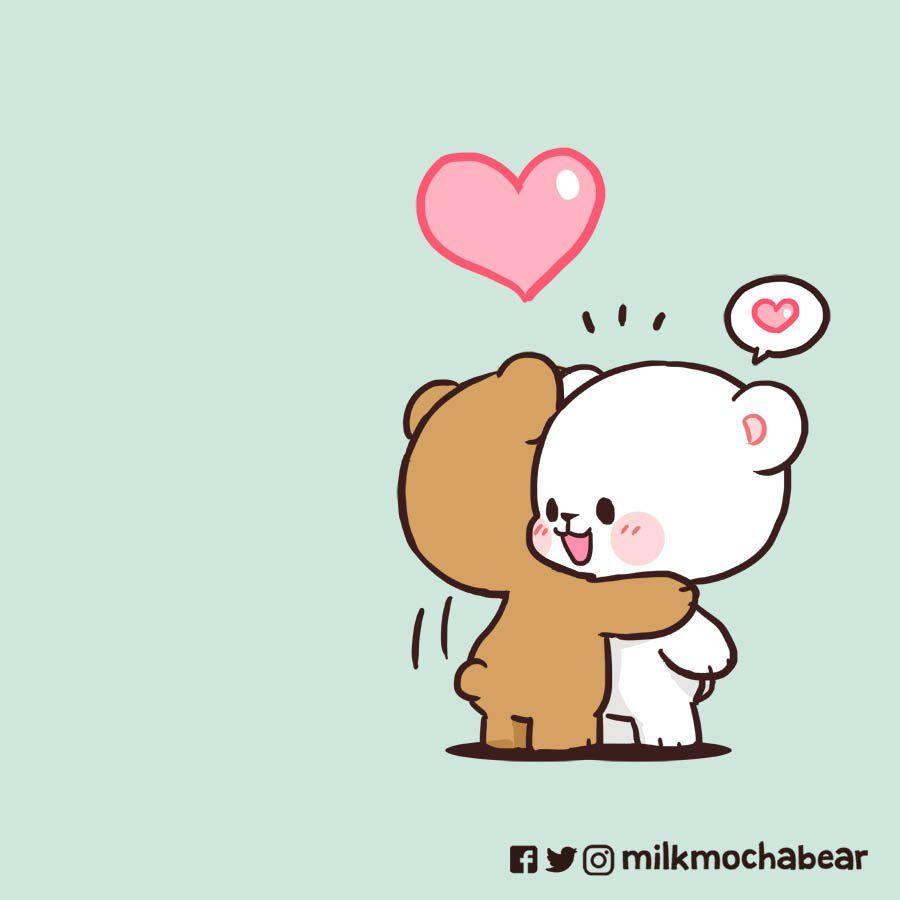 Milk Mocha On Twitter Cute Bear Drawings Cute Cartoon Drawings Cute Love Cartoons