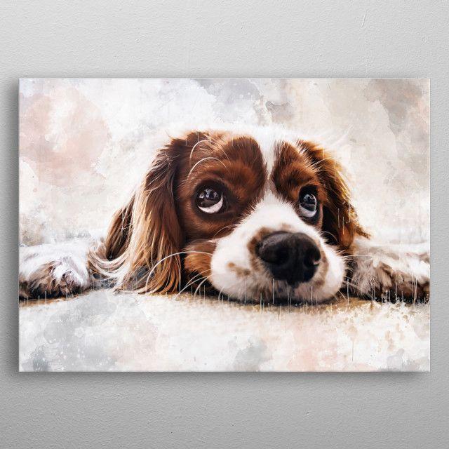 Cute dog by Ondřej Šponiar | metal posters - Displate | Displate thumbnail