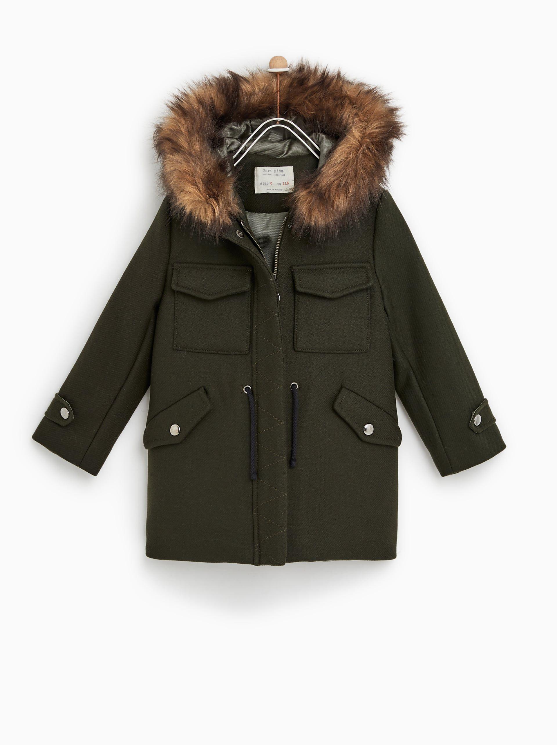 caec474d Image 1 of WOOL DUFFEL COAT from Zara | Outerwear - kids | Duffle ...