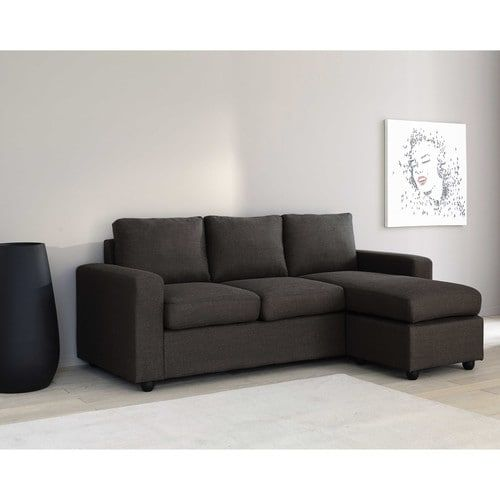 Canape D Angle Modulable 3 Places Gris Decoration Sofa Esquinero