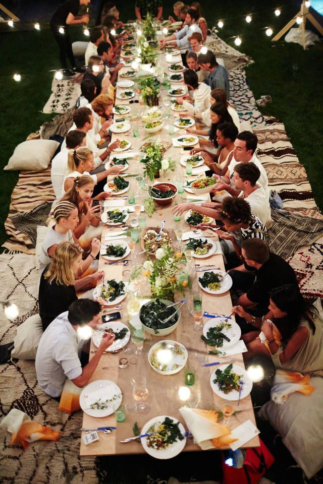 Home Dinner Party Ideas Part - 15: Athena Calderone Hosts A Summer Soiree At Her Amangansett Home.