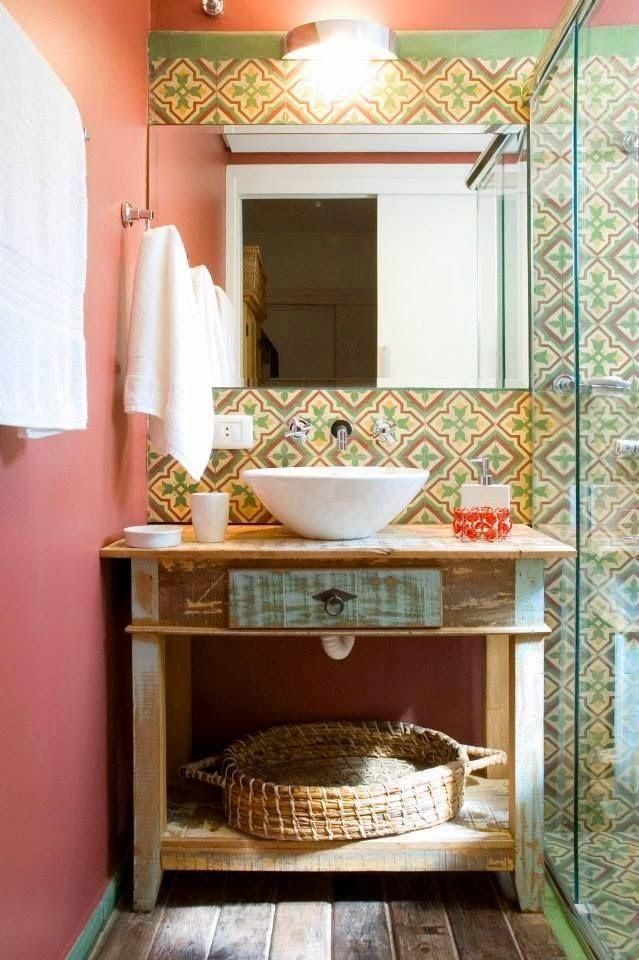 Decoração Inspiração rústica para banheiros e lavabos!! De campo - lavabos rusticos