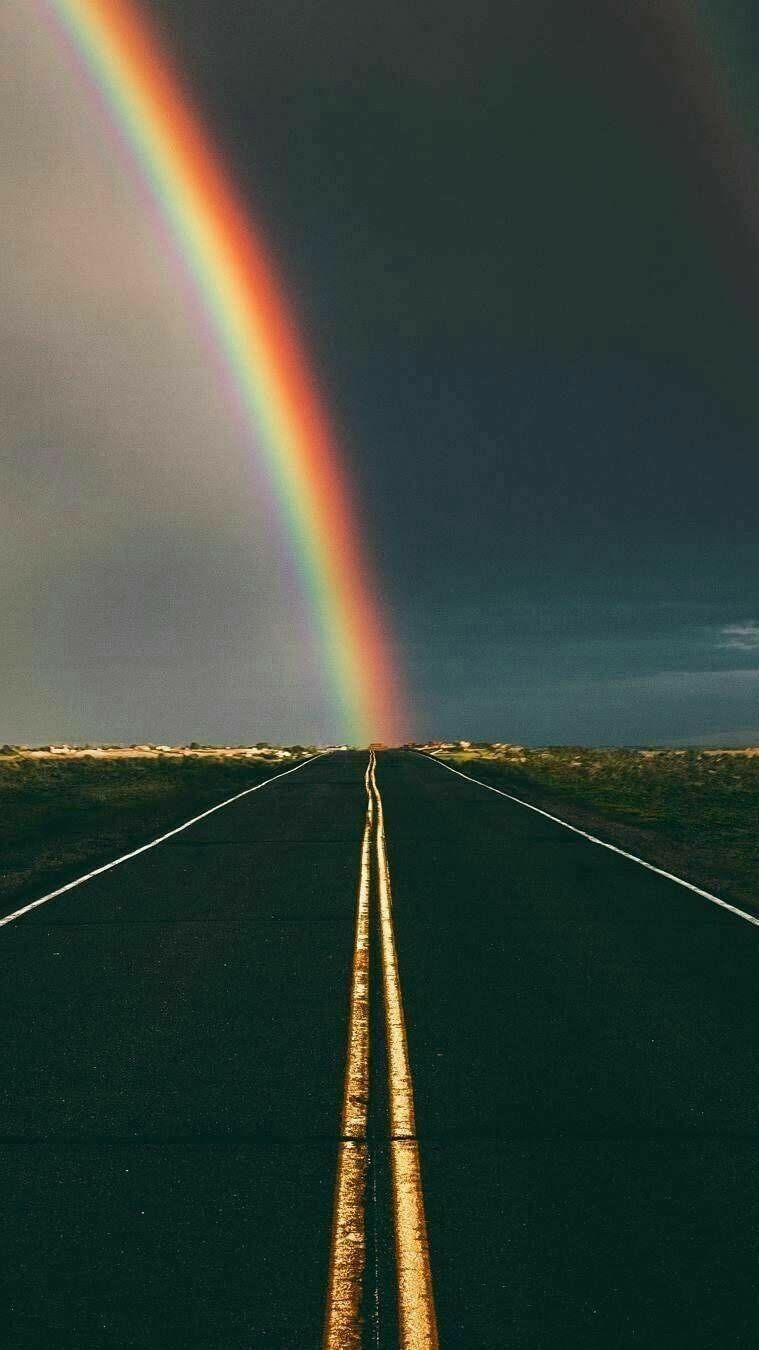Rhythm By Radiation Because The Bottom Of Rainbow Radiates Off Street Lines