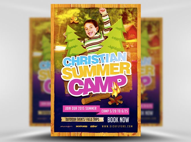 Christian Summer Camp Flyer Template   Flyers I Like
