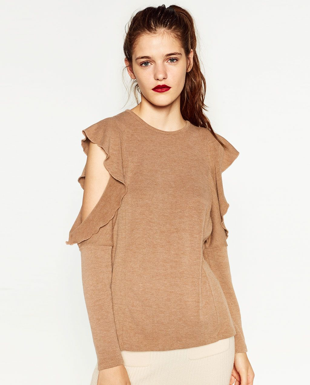 78e8c443d3eb CUT-OUT T-SHIRT-NEW IN-WOMAN | ZARA United States | TOPS | Cut ...