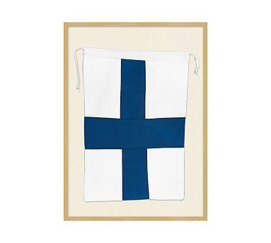 Framed Nautical Flag X, 18.25 x 25.25\