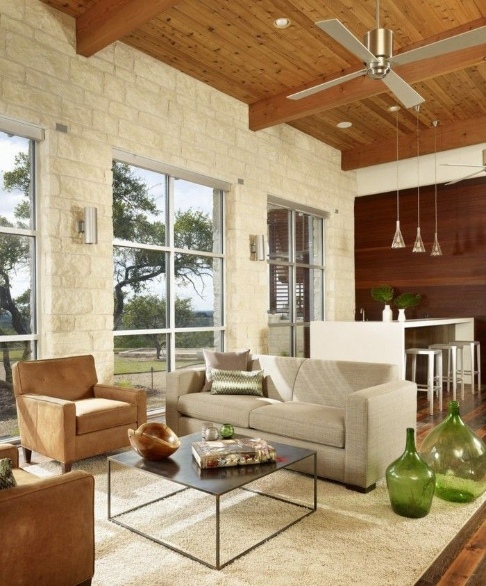 innendesign ideen wohnzimmer einrichten retro stil bodenvasen - wohnzimmer retro style