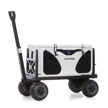 Mighty Max Plus One Cooler Caddy With Black Wheels | Rolling Utility Cart,  Patio Cooler And Ozark Trail