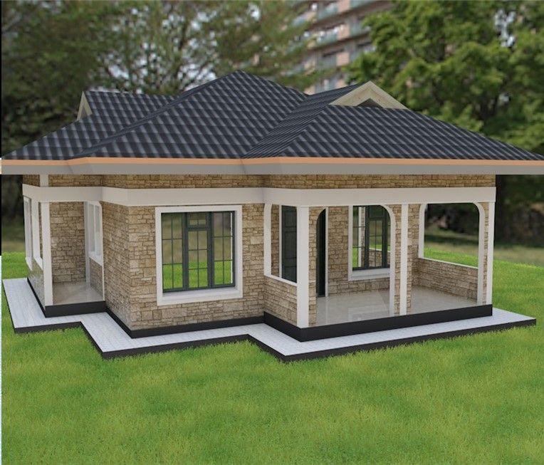 3 Bedroom House Plan Muthurwa Com, Modern 3 Bedroom House Plans In Kenya