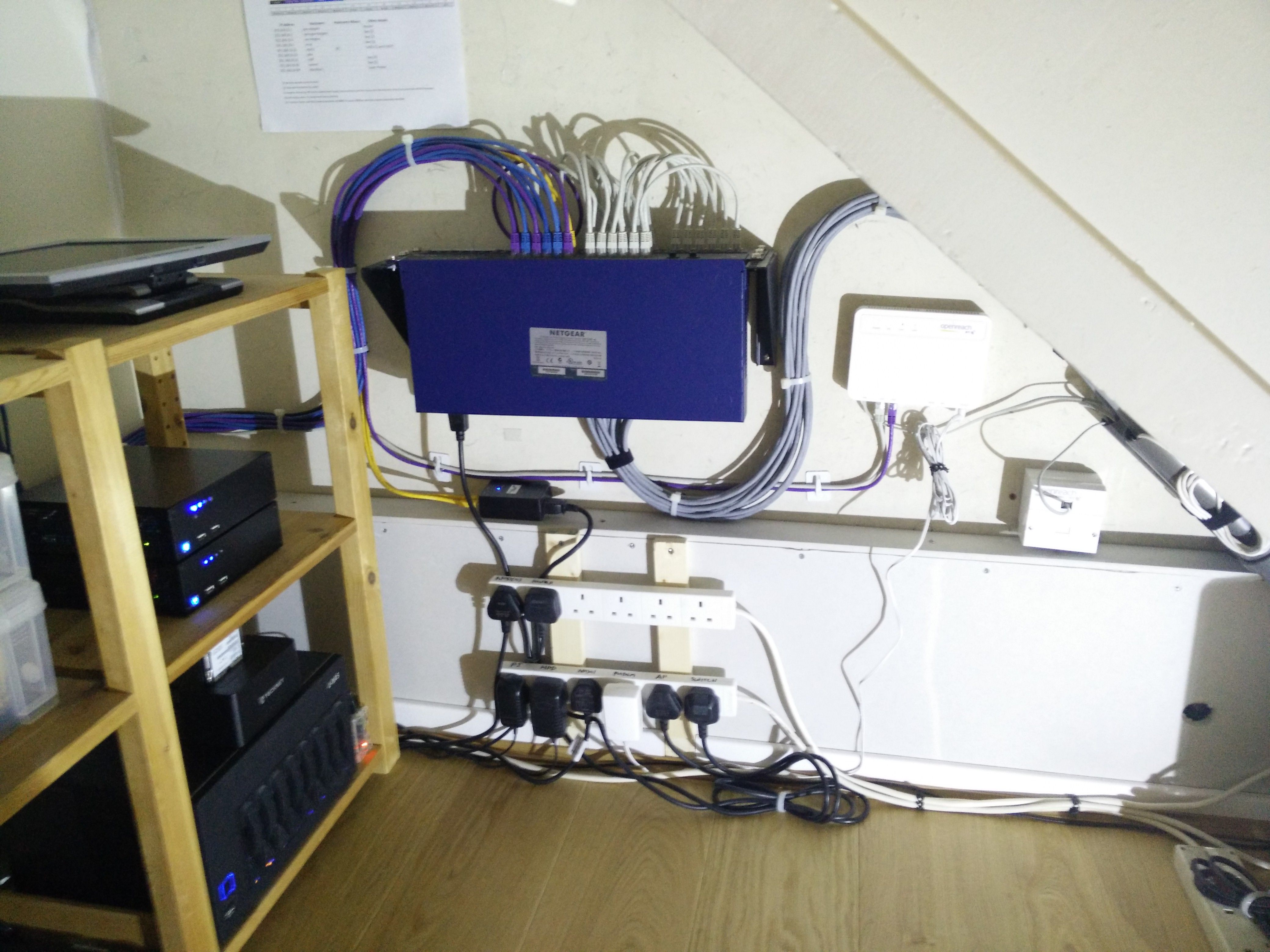 Not Enough Space For A Full Rack Setup So This Is As Close I Wiring Openreach Box