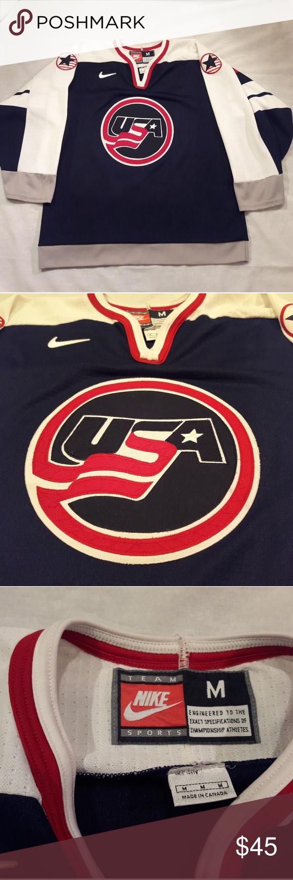 Nike Team Usa Hockey Jersey Stitched Size M Nike Team Usa Hockey Jersey Size Adult Medium Condition Pre Own Team Usa Hockey Usa Hockey Jersey Team Usa