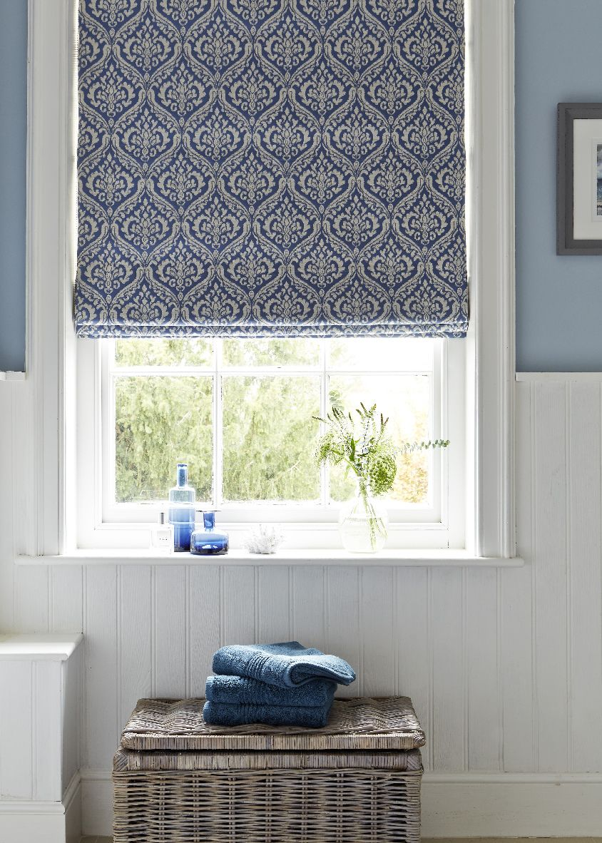 Hillarys and house beautiful collection kashmir percelain roman blind also rh pinterest