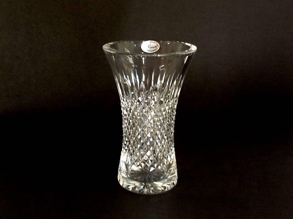 Rogaska Hamilton 8 Crystal Vase Hand Made In Yugoslavia Vertical