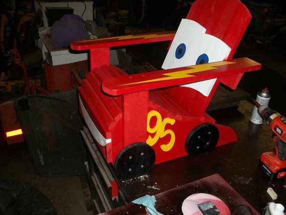 Beautiful Items Similar To Lightning McQueen Toddler Or Child Sized Adirondack Chair  On Etsy