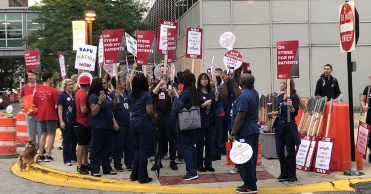 2,200 nurses walk off the job at the University of Chicago