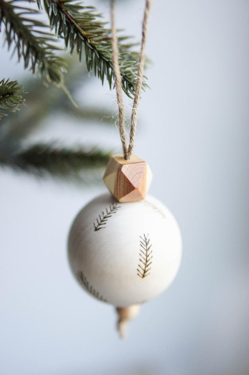 Wooden Christmas Tree Ornament Christmas Bauble Decoration Etsy In 2020 Minimalist Christmas Minimalist Christmas Decor Boho Christmas Tree