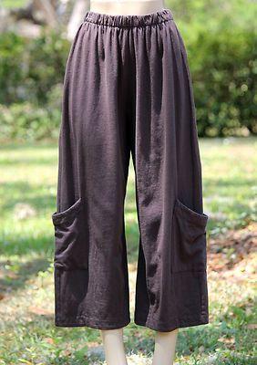 c0668ab09fc PACIFICOTTON Bryn Walker Casbah Pant Pacific Cotton Crop Pocket M L XL Vasa