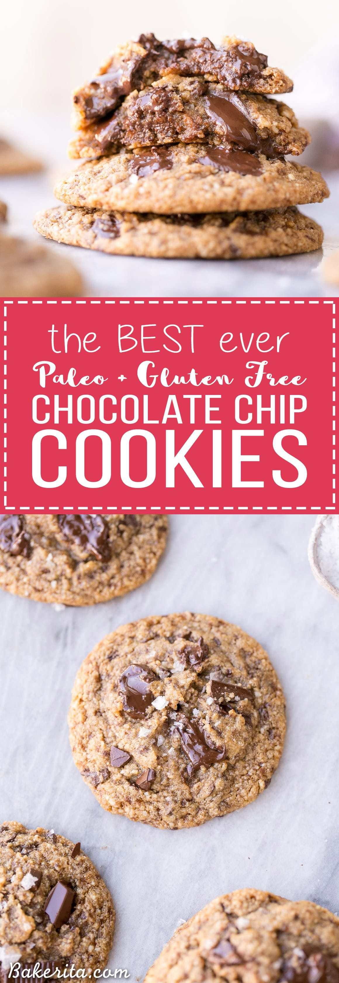 These Paleo Chocolate Chip Cookies totally nail the taste and texture of your favorite classic treat - the taste testers who tried these had no idea they were Paleo! These gluten-free, dairy free, refined sugar-free chocolate chip cookies give you all the comfort without the guilt.