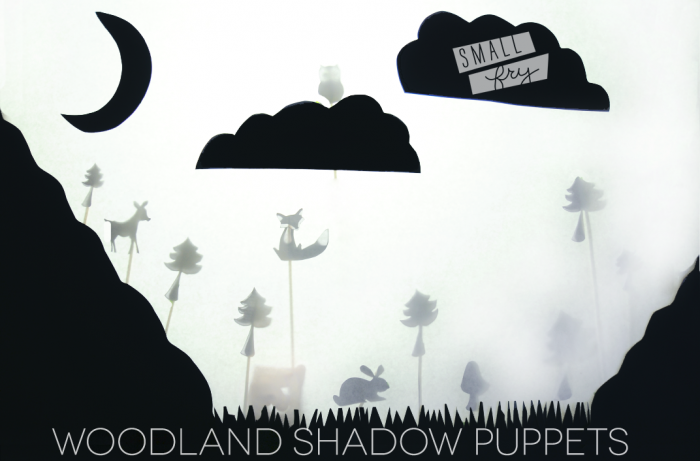 Woodland Shadow Puppets printable!