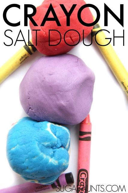 Salt Dough Recipe Made with Crayons #saltdoughrecipe
