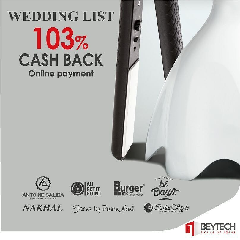 Who is getting married this year? Were here to help out! Just Say I Do to Beytechs Wedding List and benefit from many discounts and offers!  Find out more on the following link:http://www.beytech.com.lb/weddings/index or call our professional consultant on:01-243 000!  #Beytech #Jdeideh #Lebanon #Beirut #Groom #Grooms #Bride #Brides #WeddingDay #WeddingIdeas #WeddingList #WeddingSeason #WeddingTime #BridesandGrooms #Love #Instagood #Instafollow #TagForlikes #Likeforlike #YesIdo #lifejourney…