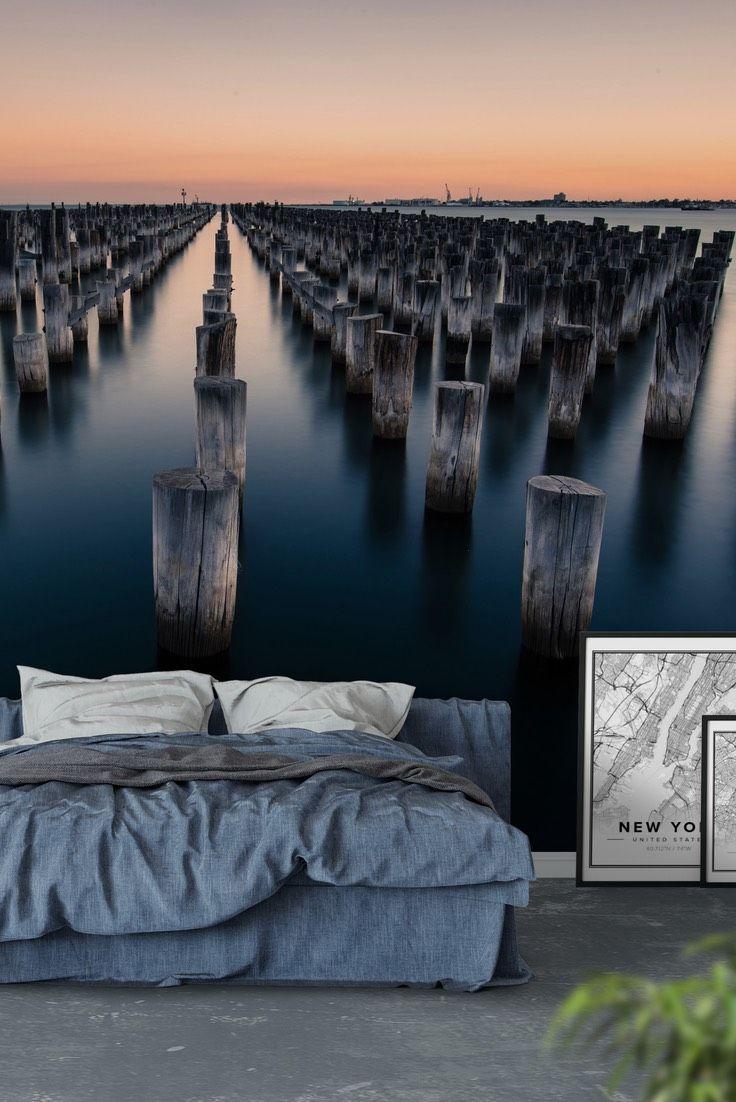 Port Melbourne Wall Mural Landscape Wall Murals Pinterest Wall