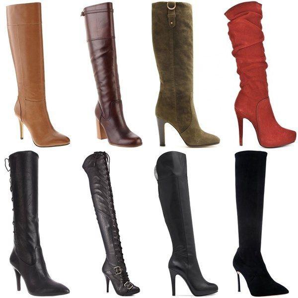 narrow calf knee high boots