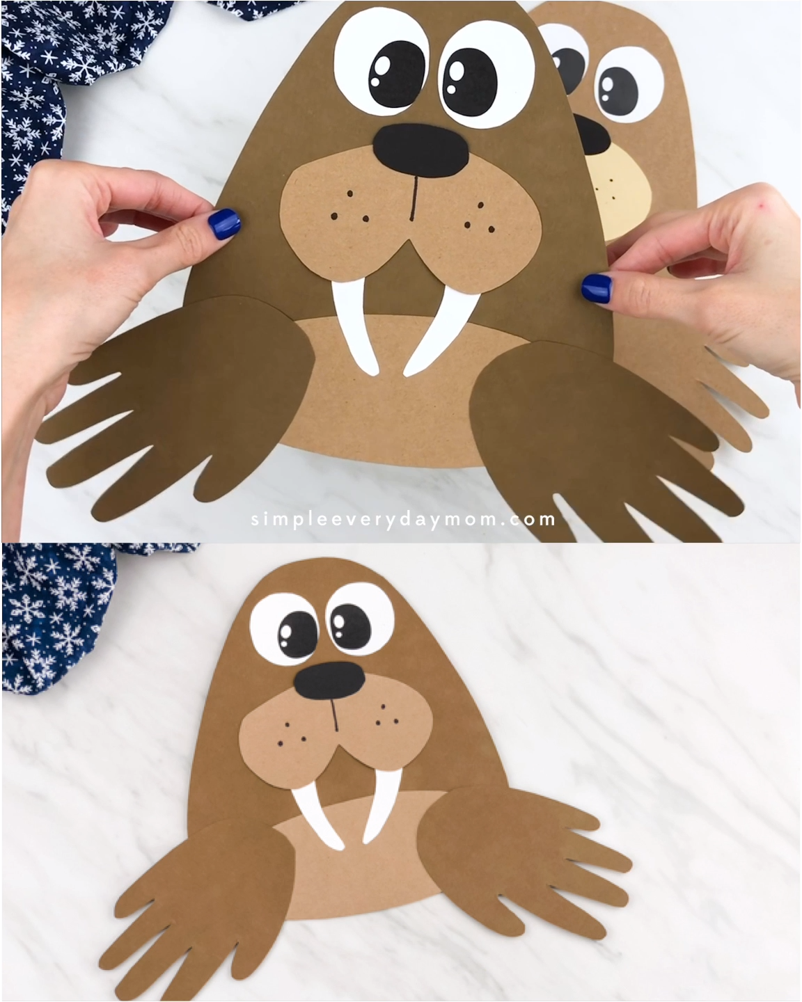 Photo of Handprint Walrus Craft