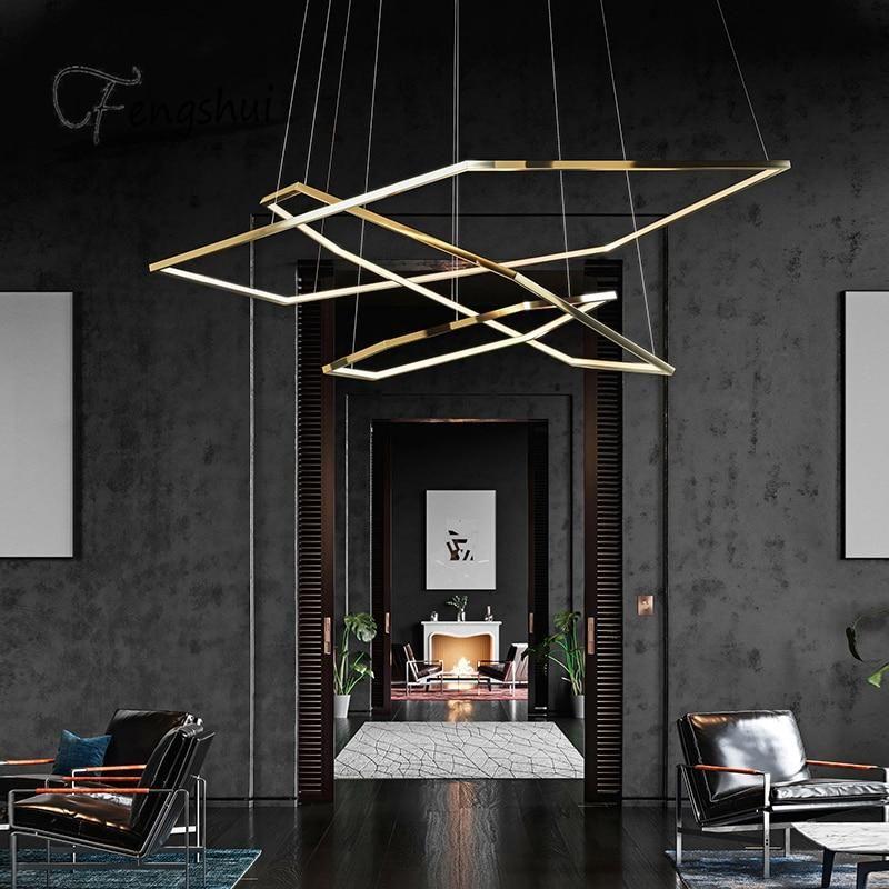 Modern Led Chandeliers Suspension Decoration Decoration Living Room Lighting House Design Lighting Design