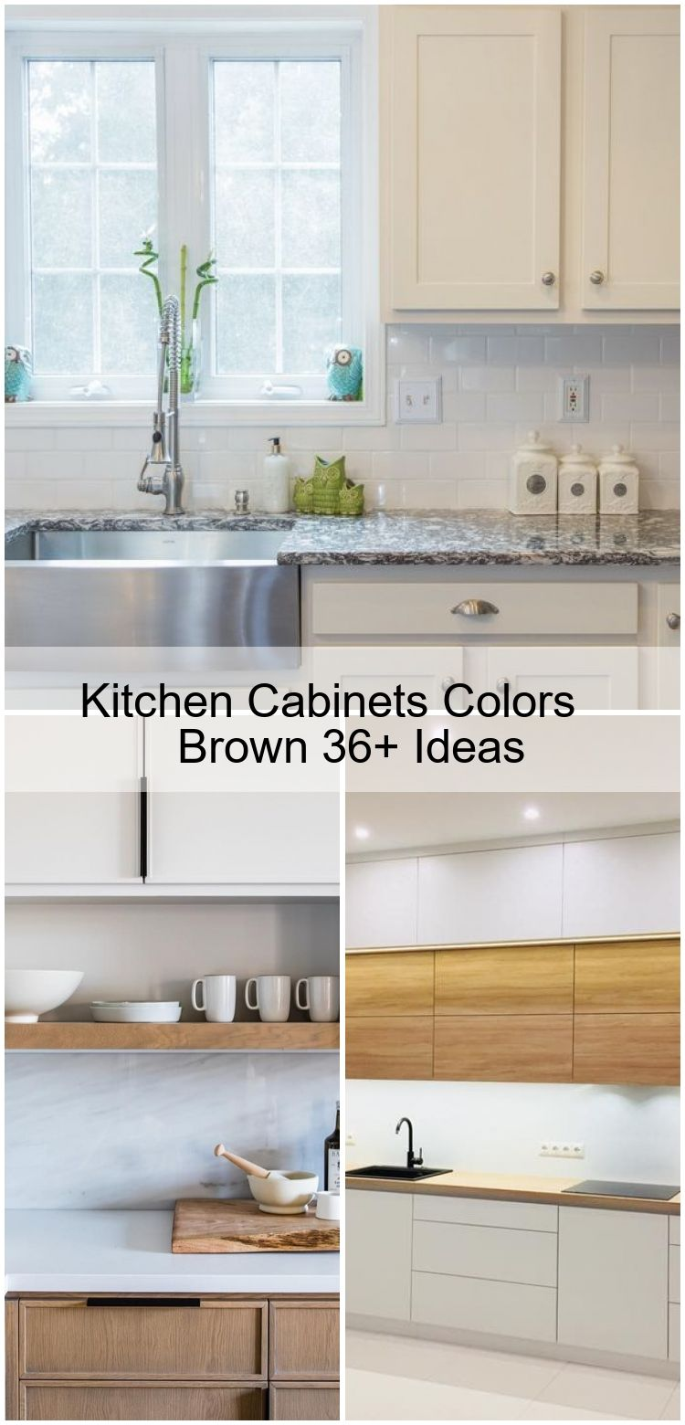 Kitchen Cabinets Colors Brown 36 Ideas Brown Cabinets Colors Ideas Kitchen Cuisine Moderne Moderne Cuisine