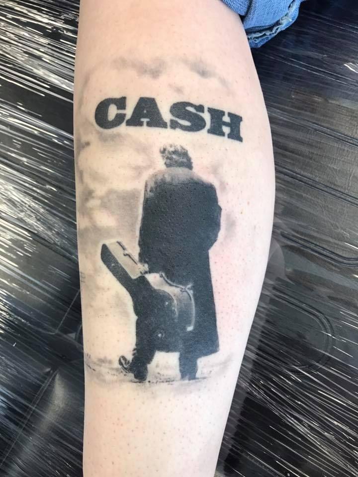 Johnny Cash Tattoo   Johnny cash tattoo, Tribute tattoos ...