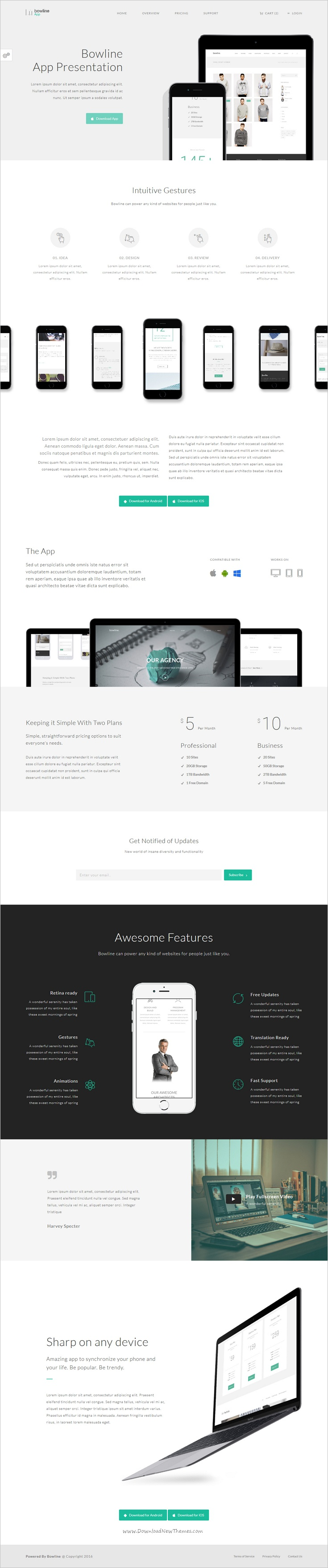 Bowline is a powerful multipurpose bootstrap template for