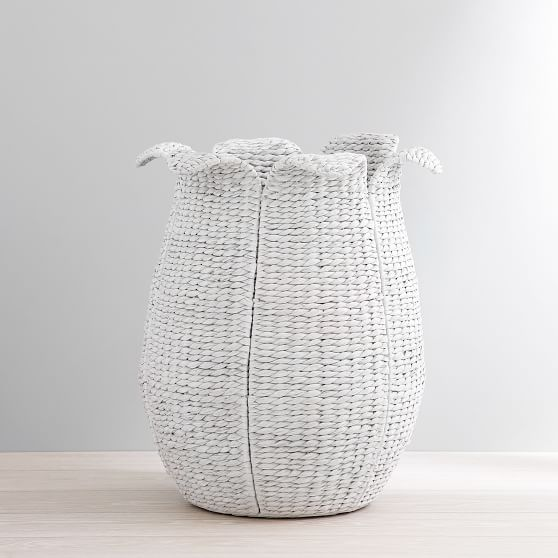 Woven Flower Hamper In 2020 Laundry Hamper Pottery Barn