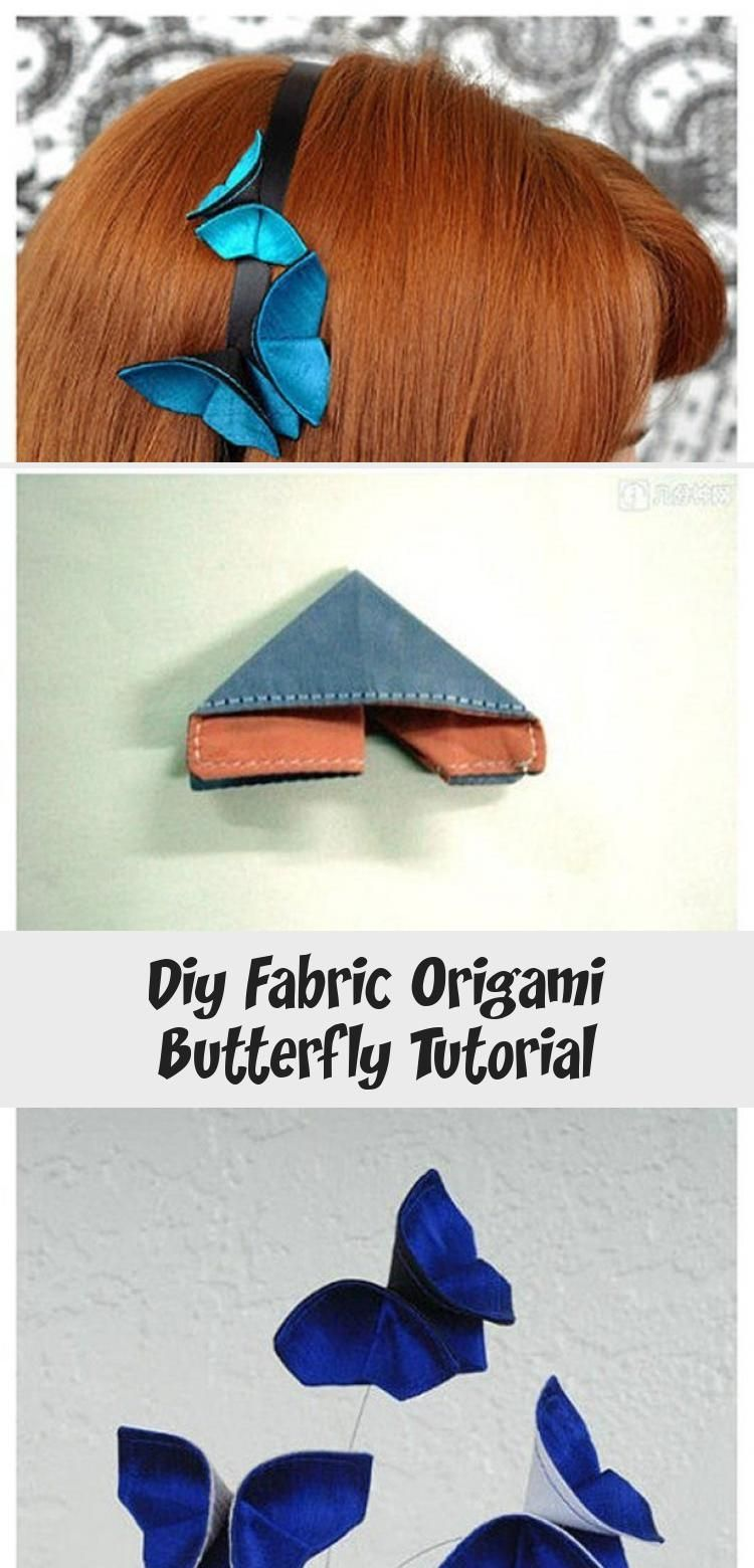Photo of DIY Fabric Origami Butterfly Tutorial #origamiVideos #origamiPapiroflexia #origa…