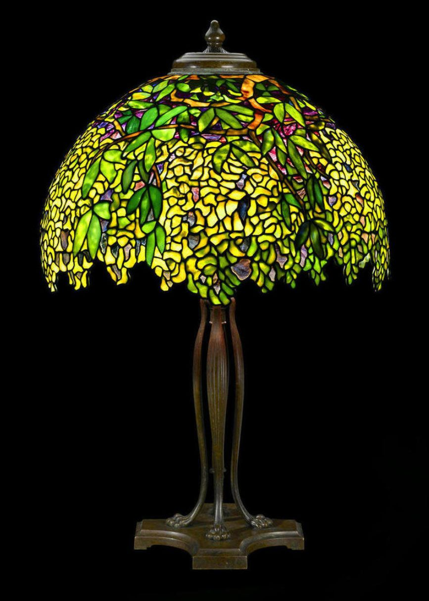 Tiffany Studios Laburnum Table Lamp Bonham S Lot 70
