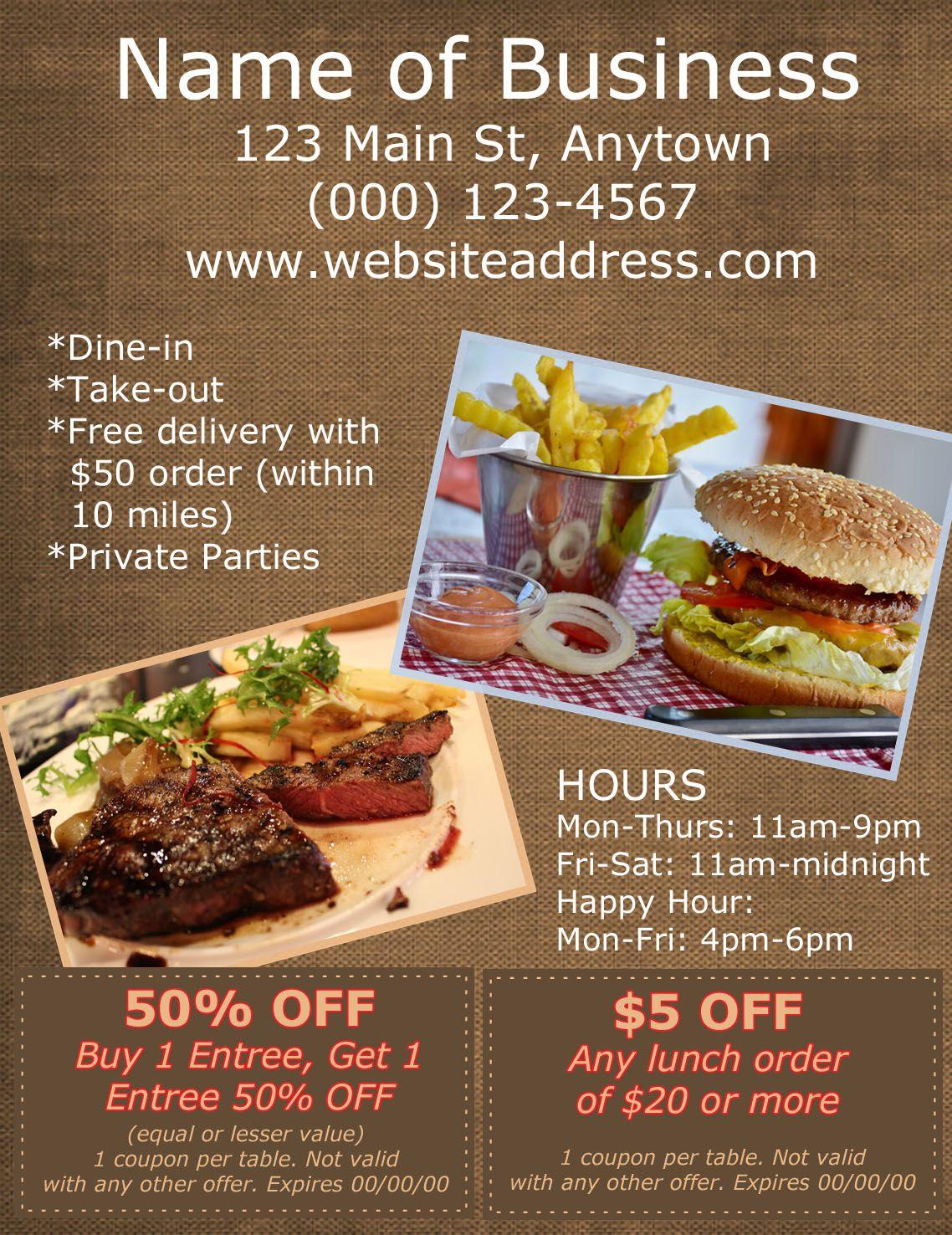 Restaurant Ad 7 Restaurant Ad Lunch Order Food