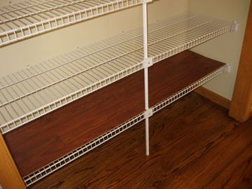 Use Interlocking Flooring To Line Your 16 Deep Wire Shelves Two