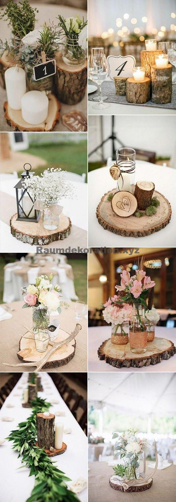 Decoraciones de mesa de boda Estas ideas rústicas de boda son realmente geniales …