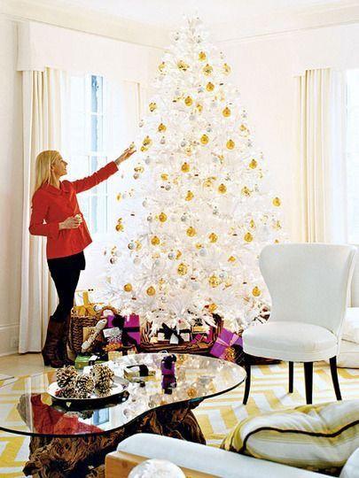 Yellow Christmas White Christmas Trees White Christmas Tree Decorations Christmas Tree Decorations