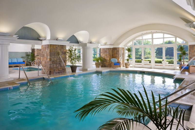 Indoor pool design  Indoor Fountains | Beautiful indoor pools design with fountains ...