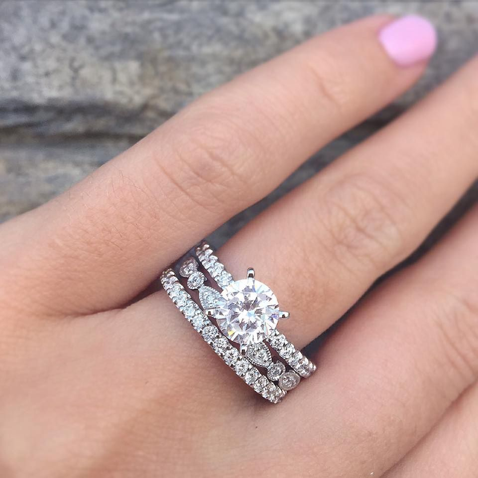 Top 10 Gabriel & Co. Engagement Rings of 2016 | Gabriel, Engagement ...