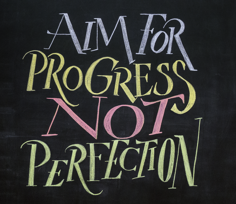 Persistence Motivational Quotes: 'Aim For Progress Not Perfection' By Gui Menga Via